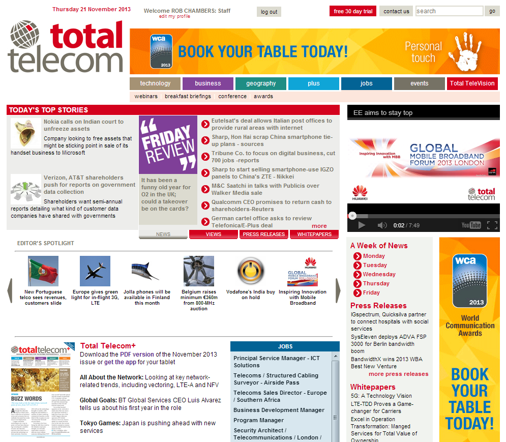 Advertising Creative Specifications | total telecom