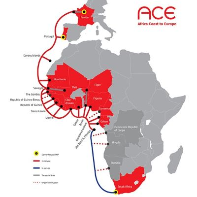 image for ACE submarine cable brings connectivity to West Coast of Afr…